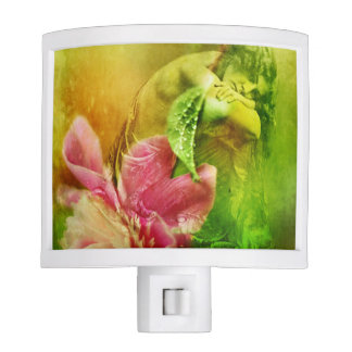 Victorian Woman with Pink Peony Nite Light