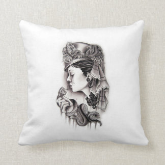 Victorian Woman with snake Pillows