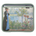 Victorian Woman with Summer Flowers Sleeves For iPads