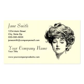 Victorian Women Business Cards