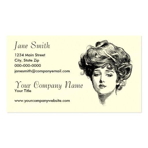 Victorian women double sided standard business cards pack for Business cards for women