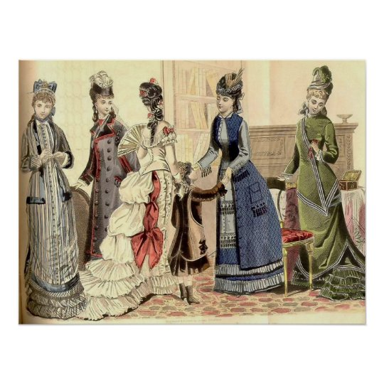 Victorian Women Fashion Poster