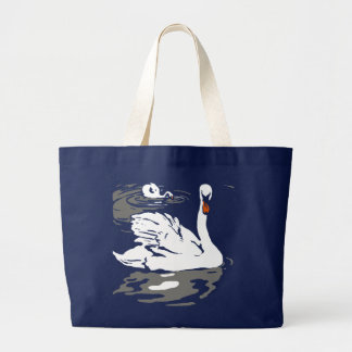 Victorian Woodcut Swans on Bag