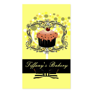 Victorian Yellow Boutique Bakery Business Cards