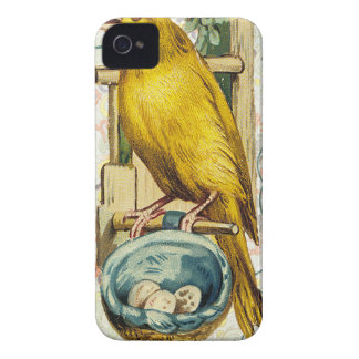 Victorian Yellow Canary Bird Nest iPhone 4 Case