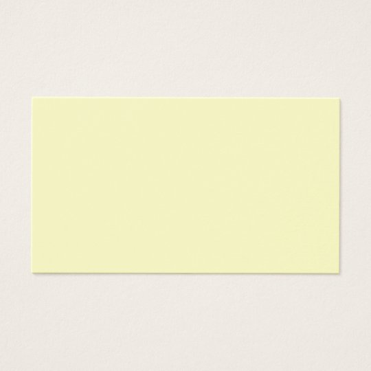 Victorian Yellow - Pale Yellow Template Blank Business Card
