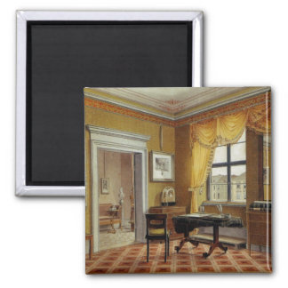 Victorian Yellow room with window 2 Inch Square Magnet