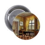 Victorian Yellow room with window 2 Inch Round Button
