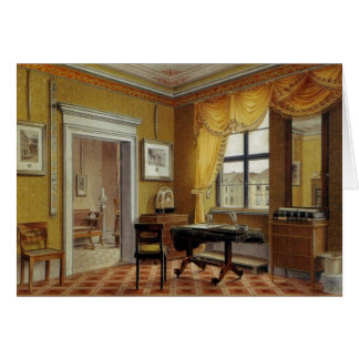 Victorian Yellow room with window Card
