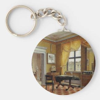 Victorian Yellow room with window Keychain