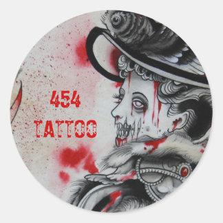 """Victorian Zombie 2"" Classic Round Sticker"
