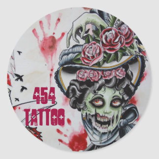 """Victorian Zombie"" Classic Round Sticker"
