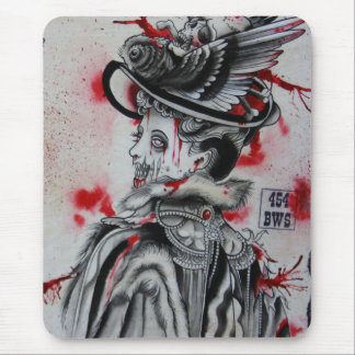 """""""Victorian Zombie"""" Mouse Pad"""