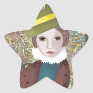 Victoriana Star Sticker
