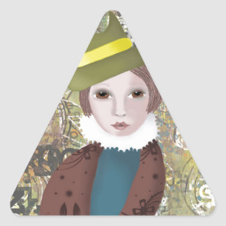 Victoriana Triangle Sticker