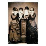 Victorians de luto tarjeton