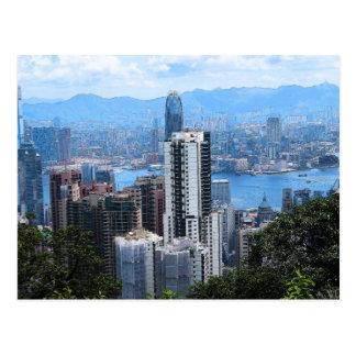 Victoria's Peak in HK Postcard
