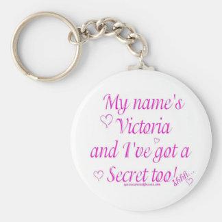 Victoria's Secret Basic Round Button Keychain