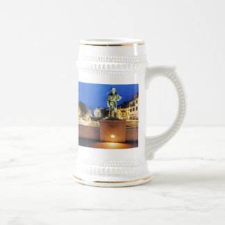 Victories miner Henner on the victory bank Beer Stein