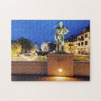 Victories miner Henner on the victory bank Jigsaw Puzzle