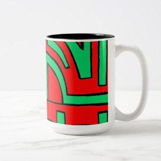 Victorioso fabuloso absolutamente honesto taza de café de dos colores