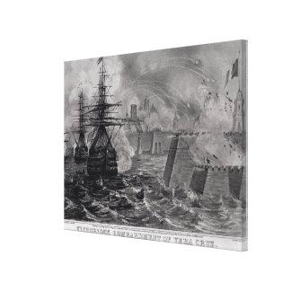 Victorious Bombardment of Vera Cruz Canvas Print