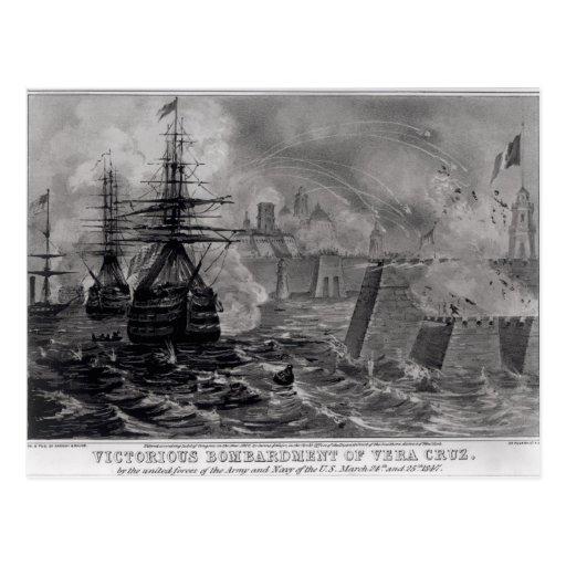 Victorious Bombardment of Vera Cruz Postcard