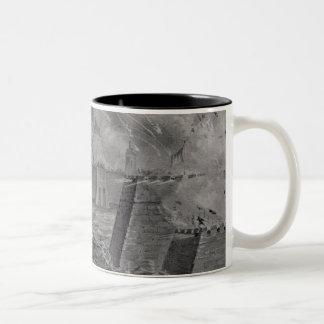 Victorious Bombardment of Vera Cruz Two-Tone Coffee Mug