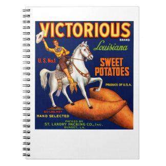 Victorious Brand Louisiana Sweet Potatoes Notebook