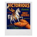 Victorious Brand Louisiana Sweet Potatoes Poster