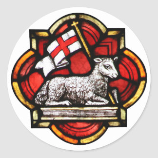 Victorious Lamb Classic Round Sticker
