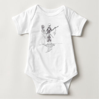 Victor's character drawing on 10-10-10 baby bodysuit