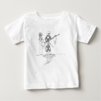 Victor's character drawing on 10-10-10 baby T-Shirt
