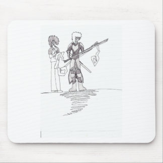 Victor's character drawing on 10-10-10 mouse pad