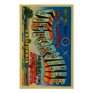 Victorville, California - Army Flying School Poster