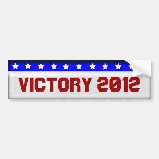 Victory 2010 car bumper sticker