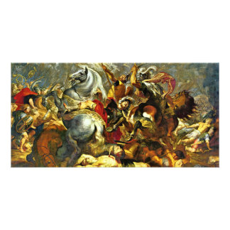 Victory And Death Of The Consul Decius Mus At The Photo Greeting Card