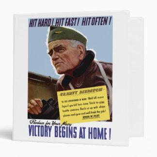 Victory Begins At Home -- Bull Halsey Binder