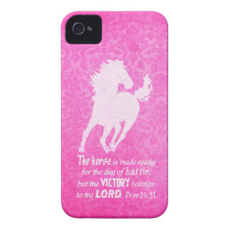 Victory Belongs to the Lord - Proverbs 21:31 Bible iPhone 4 Case