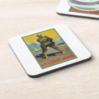 Victory Bonds Back Him Up WWI Propaganda WW1 Beverage Coaster
