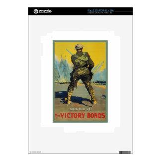 Victory Bonds Back Him Up WWI Propaganda WW1 Decals For iPad 2