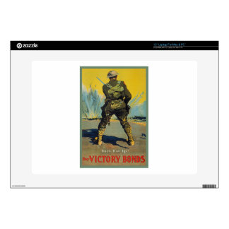 """Victory Bonds Back Him Up WWI Propaganda WW1 Decals For 15"""" Laptops"""
