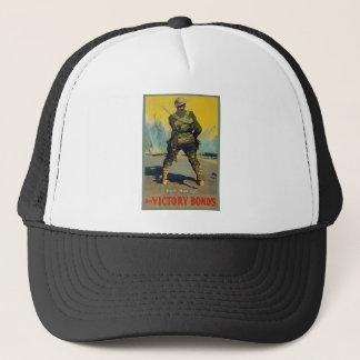 Victory Bonds Back Him Up WWI Propaganda WW1 Trucker Hat