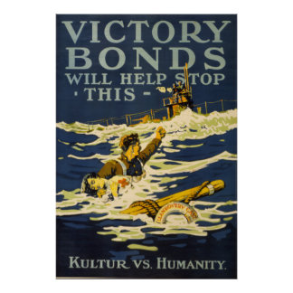 Victory Bonds Will Help Stop This - Posters