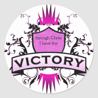 Victory Classic Round Sticker