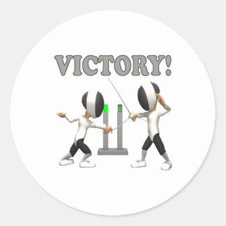 Victory Classic Round Sticker