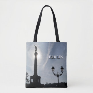 Victory-Column_02.01.T with street lamp, Berlin Tote Bag