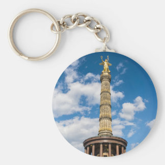 Victory column in Berlin (Germany) Basic Round Button Keychain