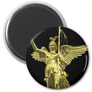 Victory Column(siegessaule),Berlin,Angel Black Bac Fridge Magnets