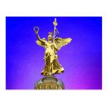 Victory Column (siegessaule),Berlin, Art Sky Postcard